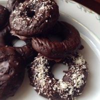Keto Chocolate Protein Donuts w/ Chocolate Glaze (Gluten-Free)